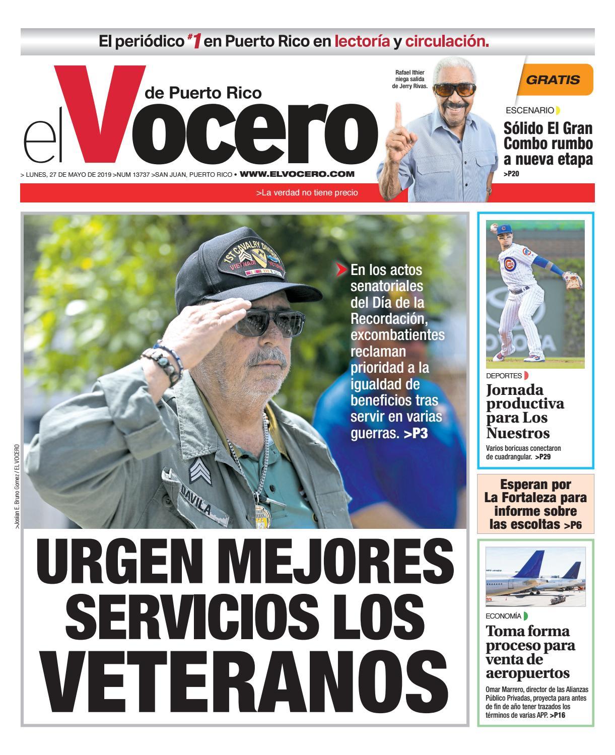 310ad7e4a5 Edición del 27 de mayo de 2019 by El Vocero de Puerto Rico - issuu