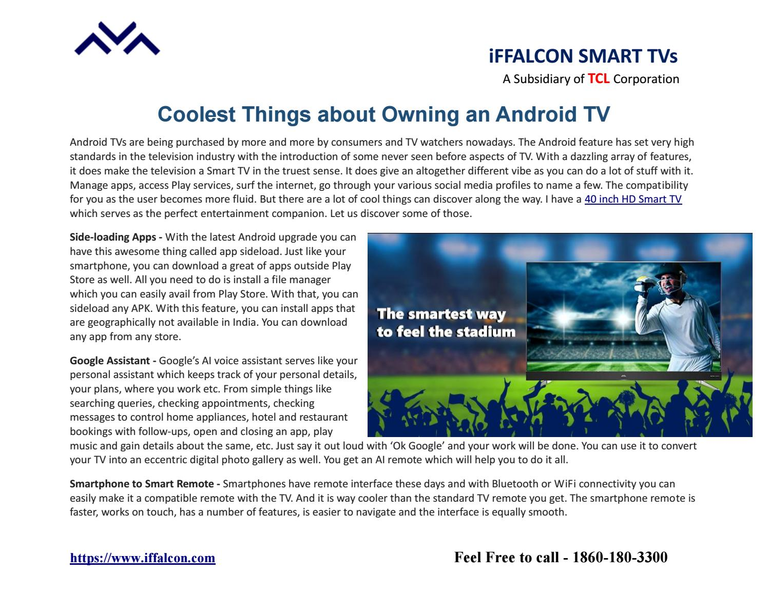 Coolest Things about owning an Android TV by Tanjni Pache - issuu