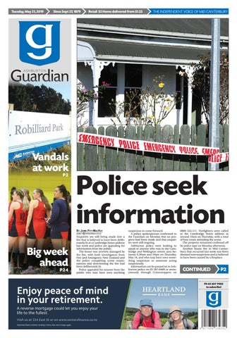 Ashburton Guardian, Tuesday, May 21, 2019 by Ashburton Guardian - issuu