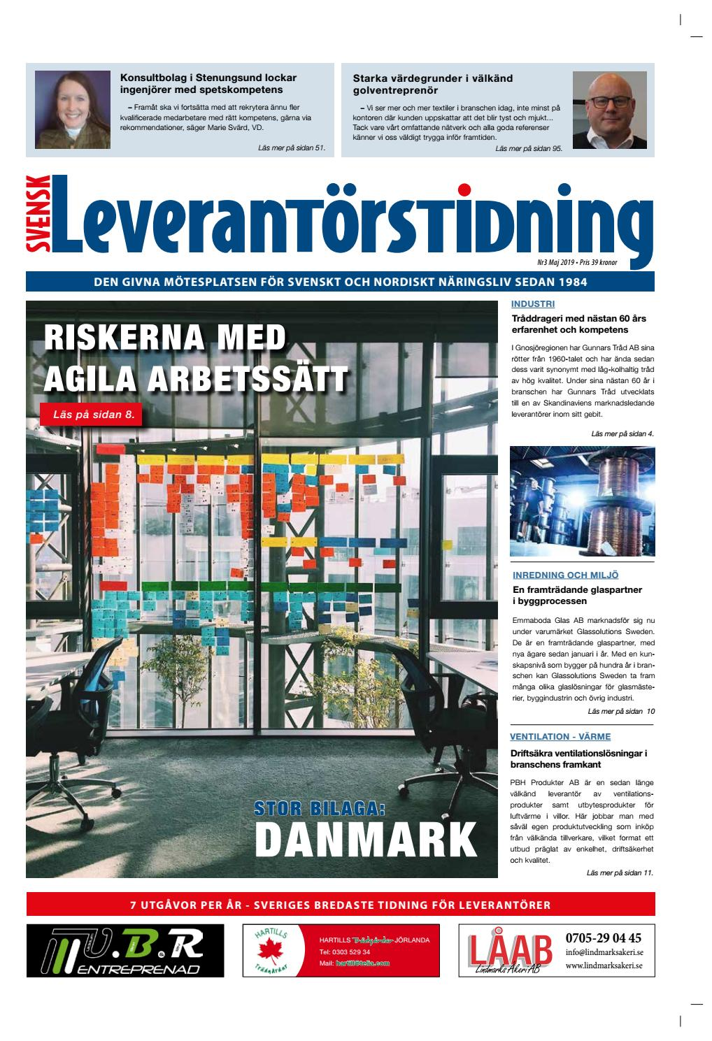 a81cbad0f98 Svensk Leverantörstidning nr-3 2019 by Hexanova Media Group AB - issuu