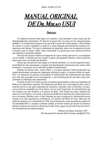 Handbook of the dr download mikao original reiki usui