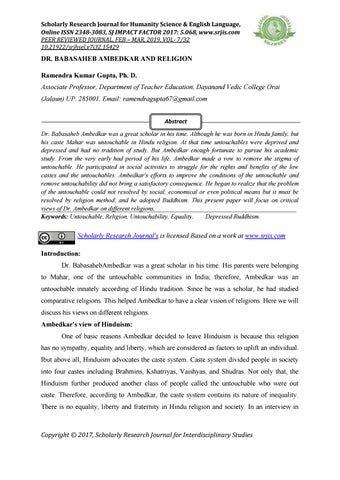 HISTORIOGRAPHY AND CASTE OPPRESSION by IJMER Editor - issuu