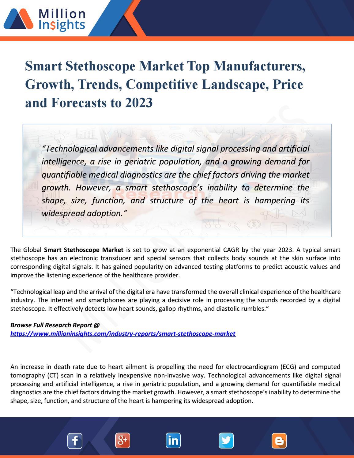 Smart Stethoscope Market - Global Industry Size, Top Key