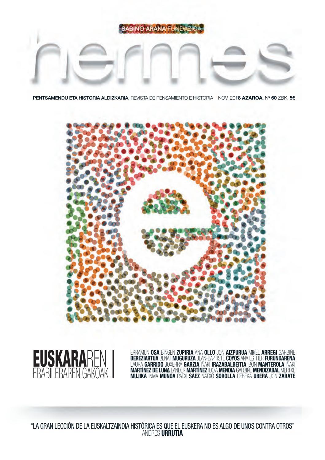 Hermes 60 Euskararen Erabileraren Gakoak By Sabino Arana