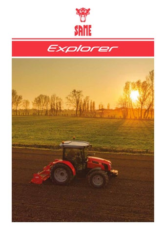 SAME Explorer MY2019_Brochure_English by SAME - Tractors - issuu