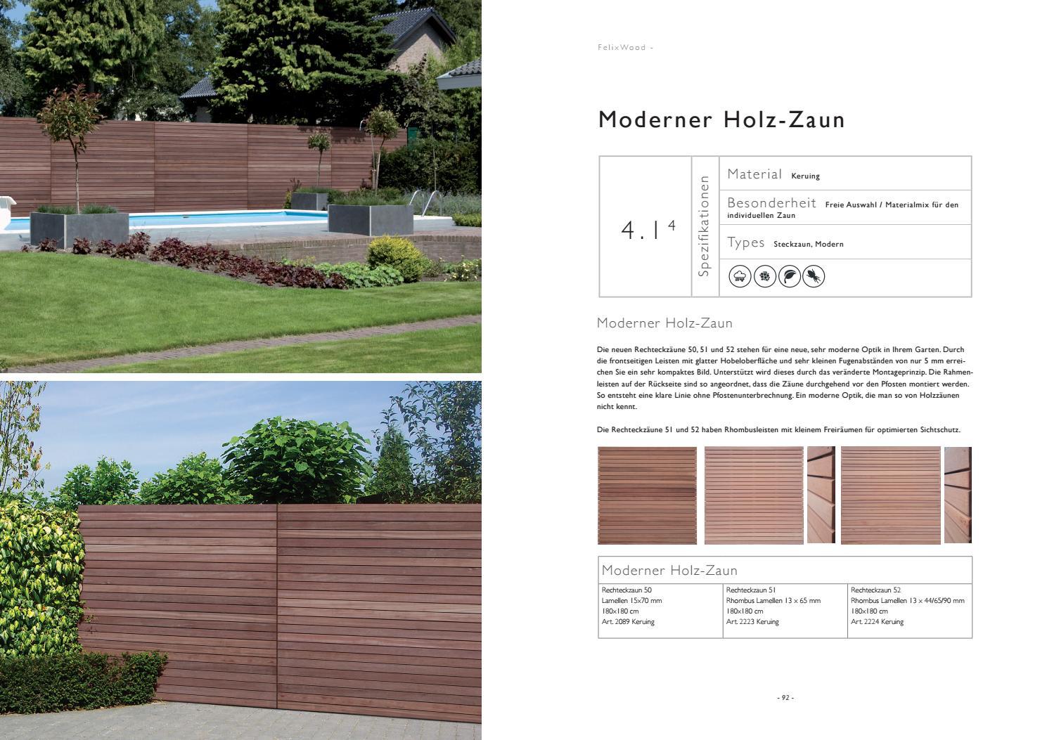 Terrassenboden Und Sichtschutz Felix Clercx Katalog 2019 By