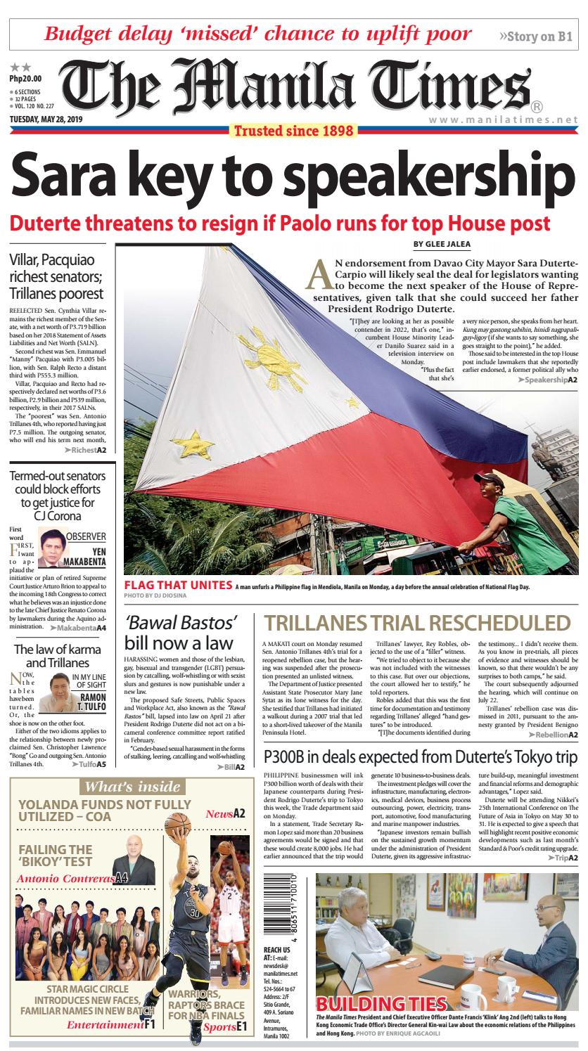 THE MANILA TIMES | MAY 28, 2019 by The Manila Times - issuu