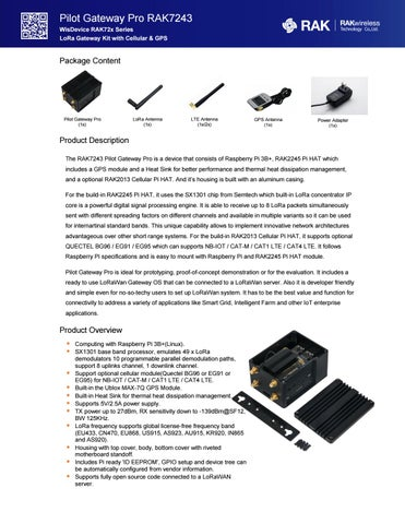 Pilot Gateway Pro RAK7243 by MARCOM SRL - issuu