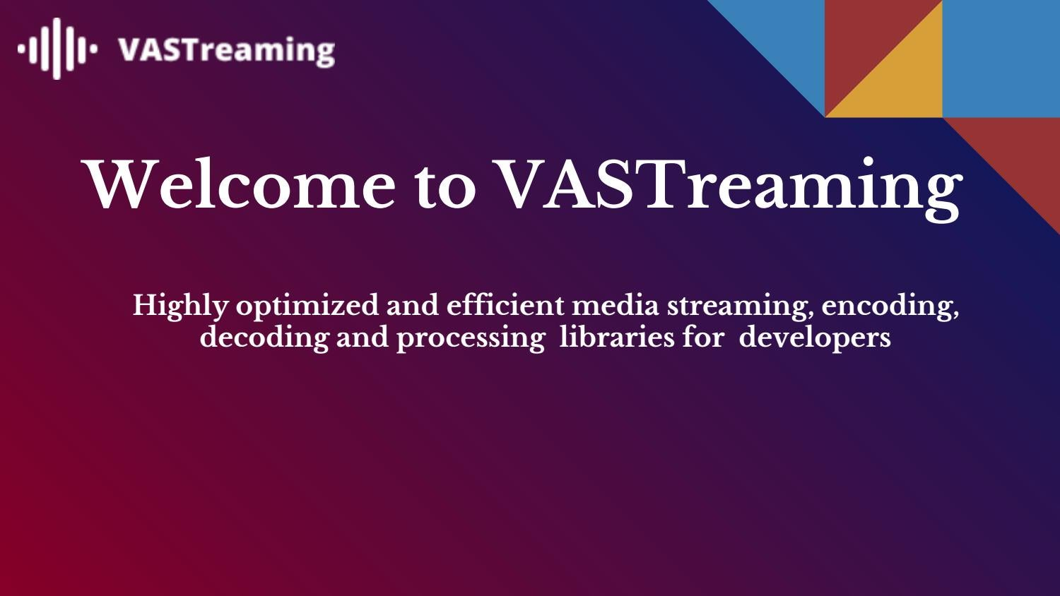 RTP And RTSP Streaming Library For Developers| VASTreaming