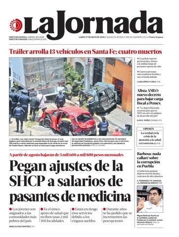 44d4fe0e4 La Jornada, 05/27/2019 by La Jornada - issuu