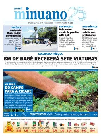 f7eb23826 ~å ç ë jornalminuano.com.br BAGÉ, terça-feira, 28 de maio de 2019 - ANO XXV  Nº 6 238   R$ 2,00 ARQUIVO JM