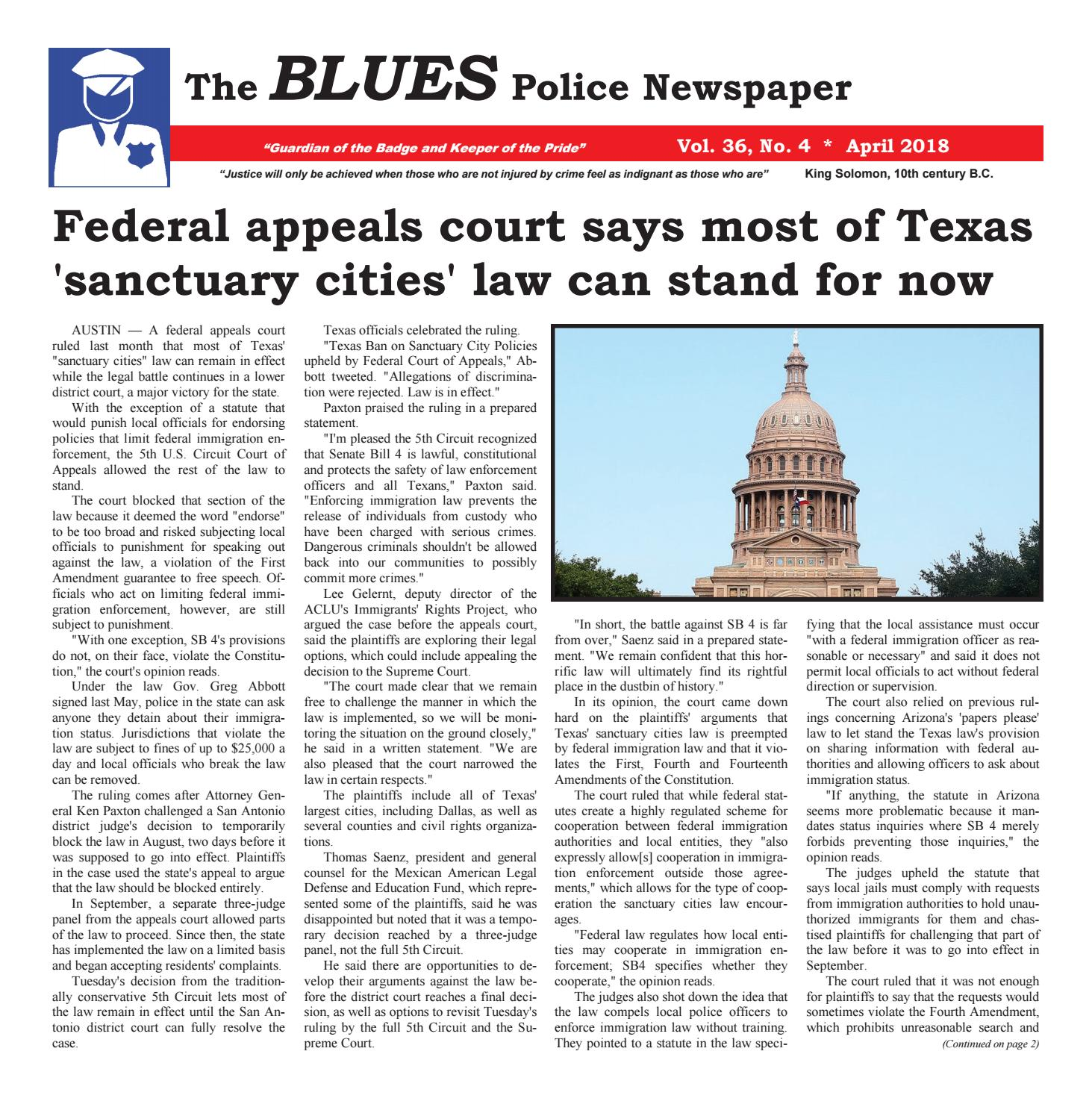April Blues 2018 by The Blues Police Newspaper - issuu