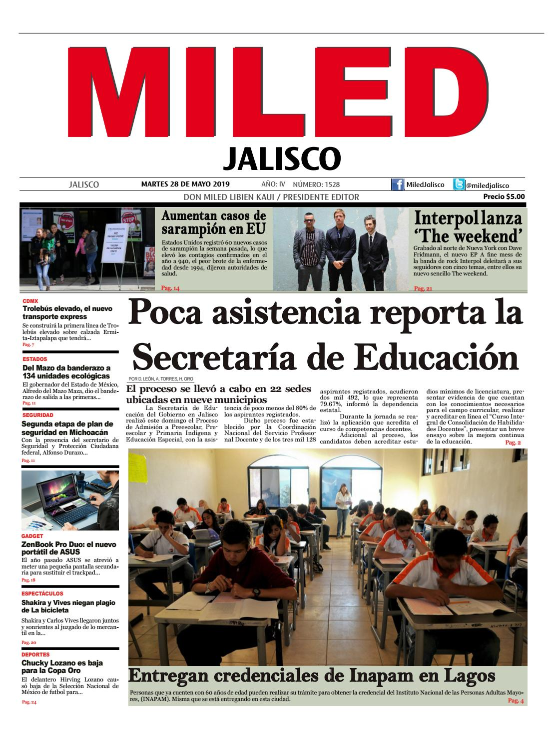 Miled Jalisco 28 05 19 By Miled Estados Issuu