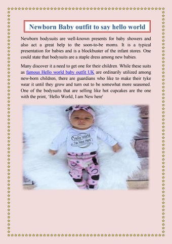 Hello World Baby Bodysuit New Baby Bodysuit Newborn Baby Bodysuit