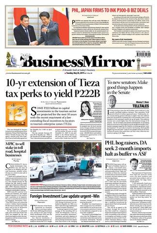 BusinessMirror May 28, 2019 by BusinessMirror - issuu