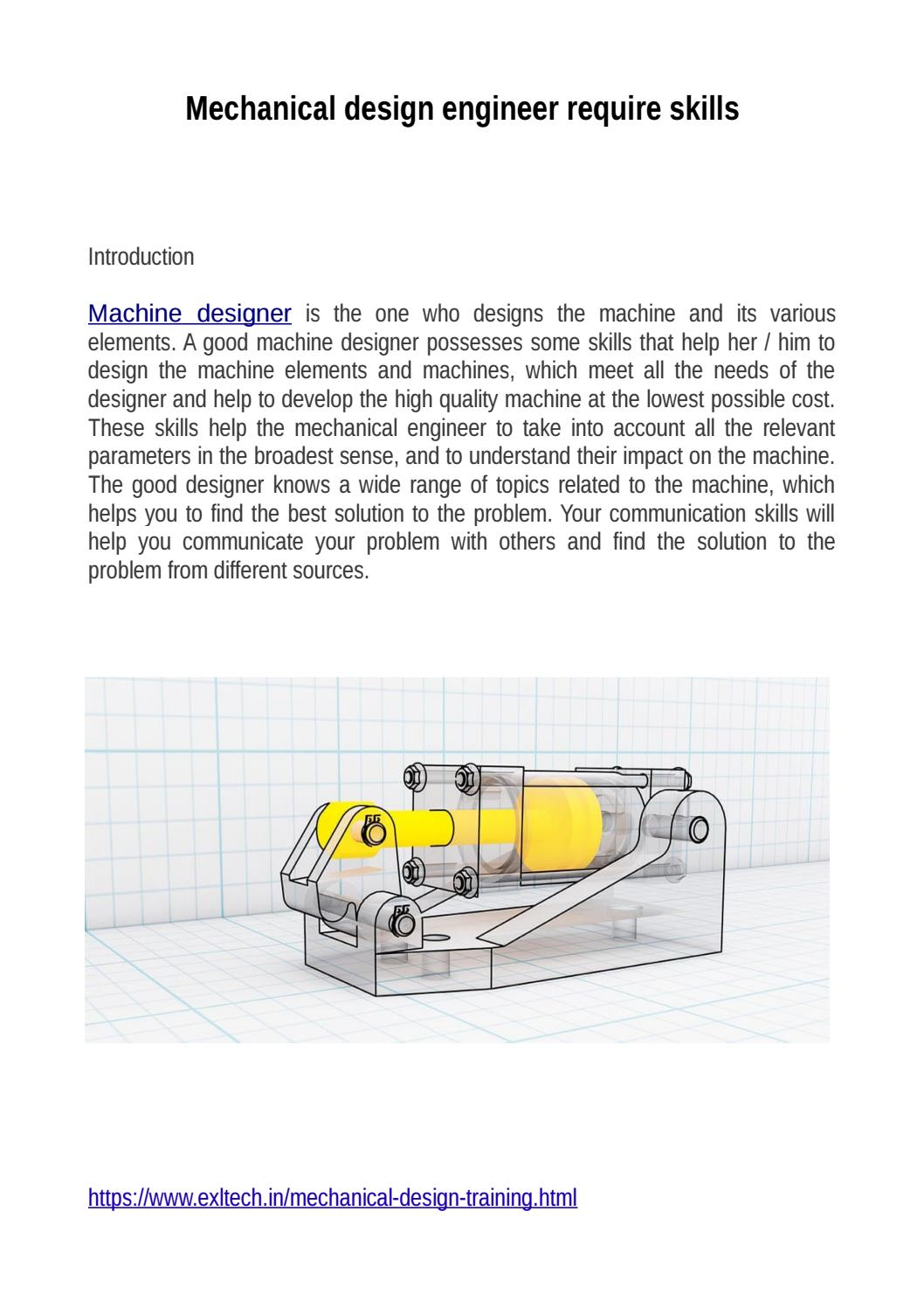 Mechanical Design Engineer Require Skills By Misha Kapoor Issuu