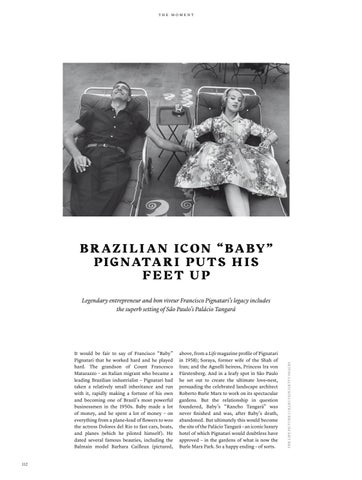 "Page 112 of Brazilian icon ""Baby"" Pignatari puts his feet up"