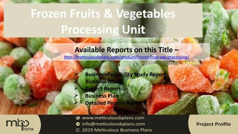 Frozen Fruits & Vegetable Processing Unit by