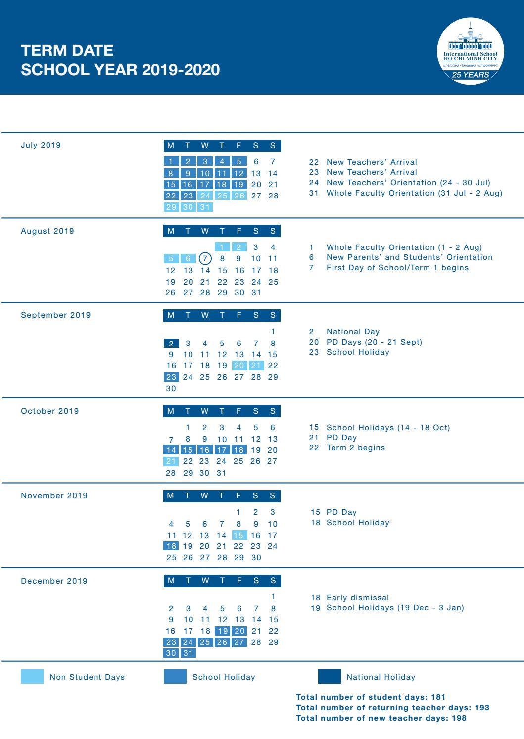 Calendar 19-20 by ISHCMC - issuu