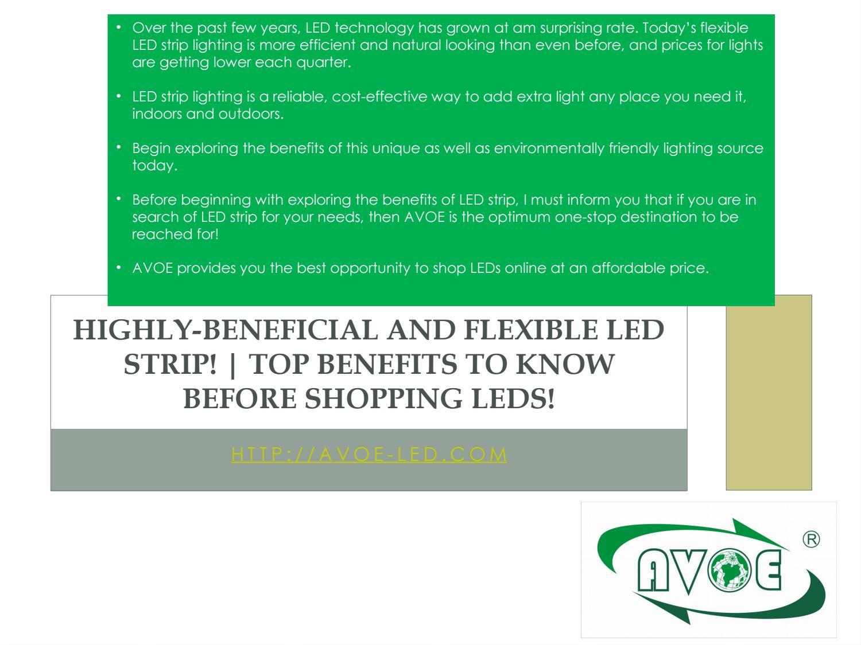 Flexible Led Strip Lights Versatile Solution For Bias