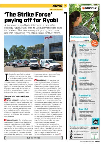 Page 37 of 'The Strike Force' paying off for Ryobi Power Tools