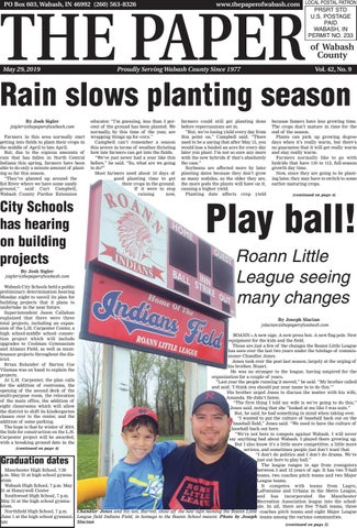 The Paper of Wabash County - May 29, 2019 issue by The Paper of