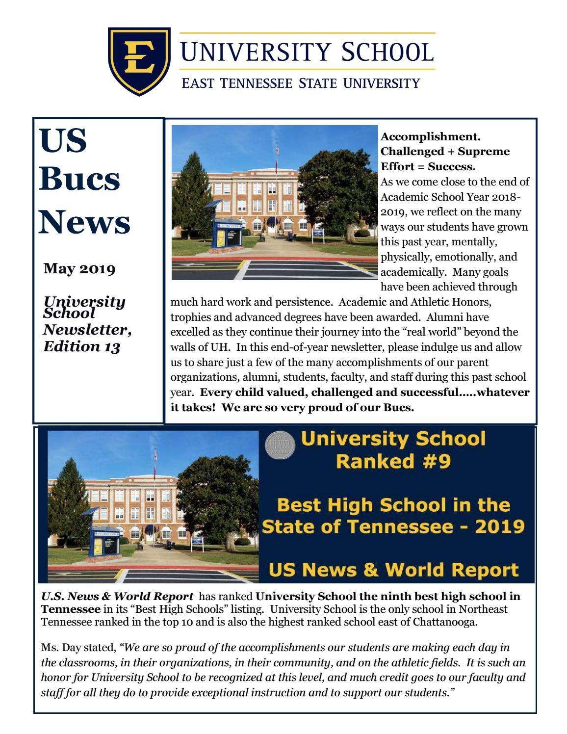 Acoustic Christmas 2019 Johnson City Tn.University School Alumni Newsletter May 2019 By East