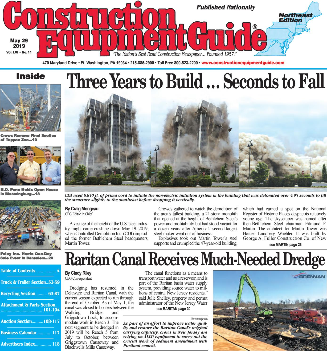 Northeast 11 May 28, 2019 by Construction Equipment Guide