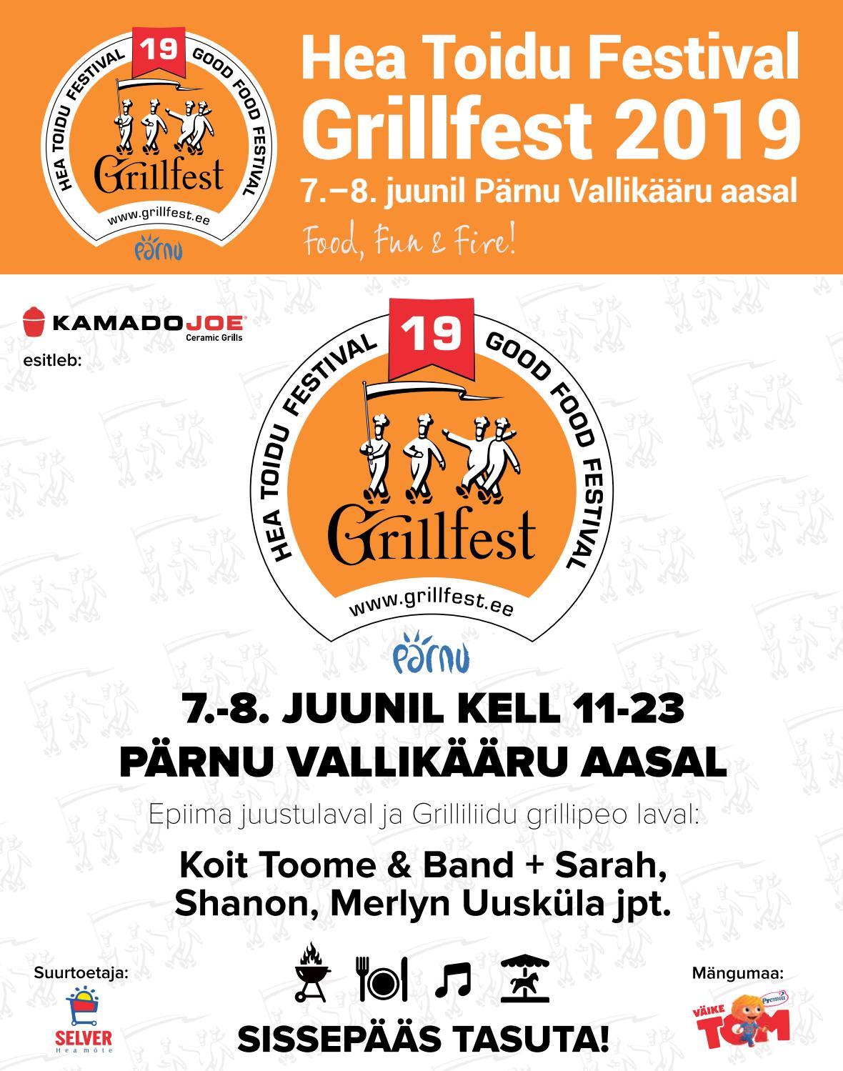 6d3ed2f7ff8 Hea Toidu Festival - Grillfest 2019 ajaleht (Eesti Ekspress) by Eesti  Messid / Eesti Festivalid / Eesti Konverentsid - issuu