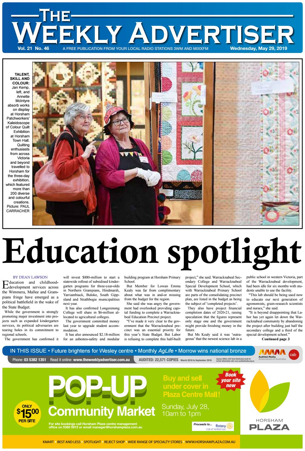 The Weekly Advertiser - Wednesday, May 29, 2019 by The