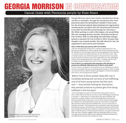 Page 10 of Georgia Morrison In Conversation