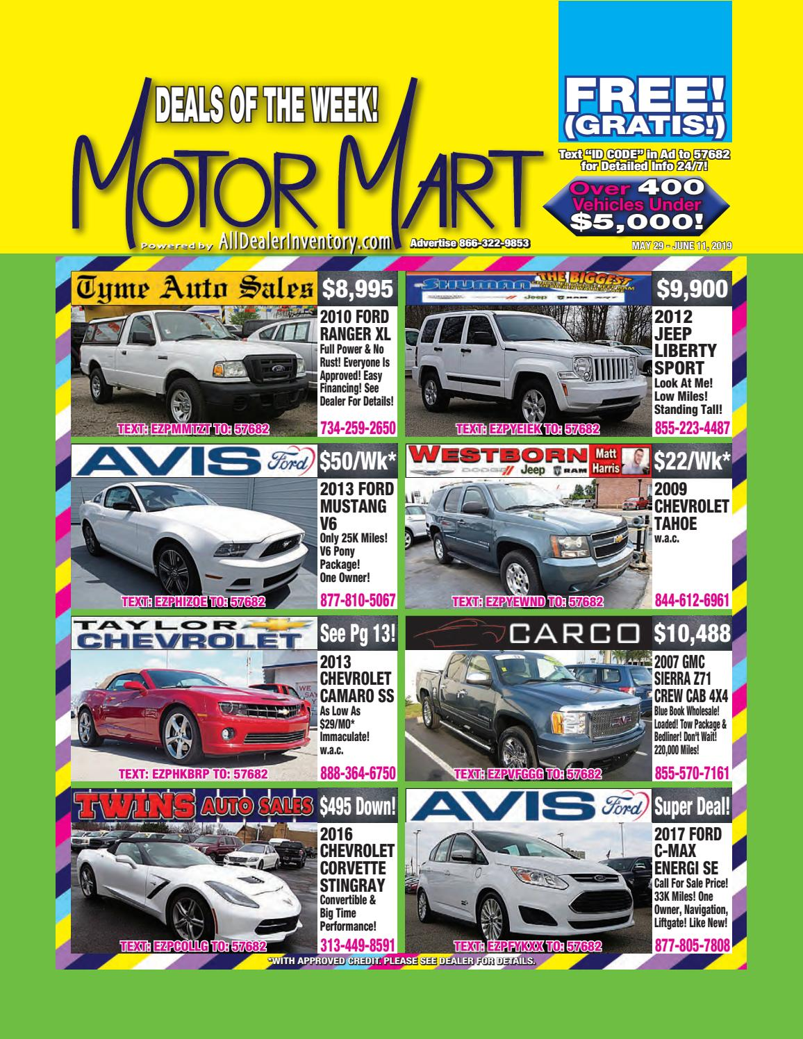 Motor Mart's May 29th Edition! Shop Super Metro Detroit Auto
