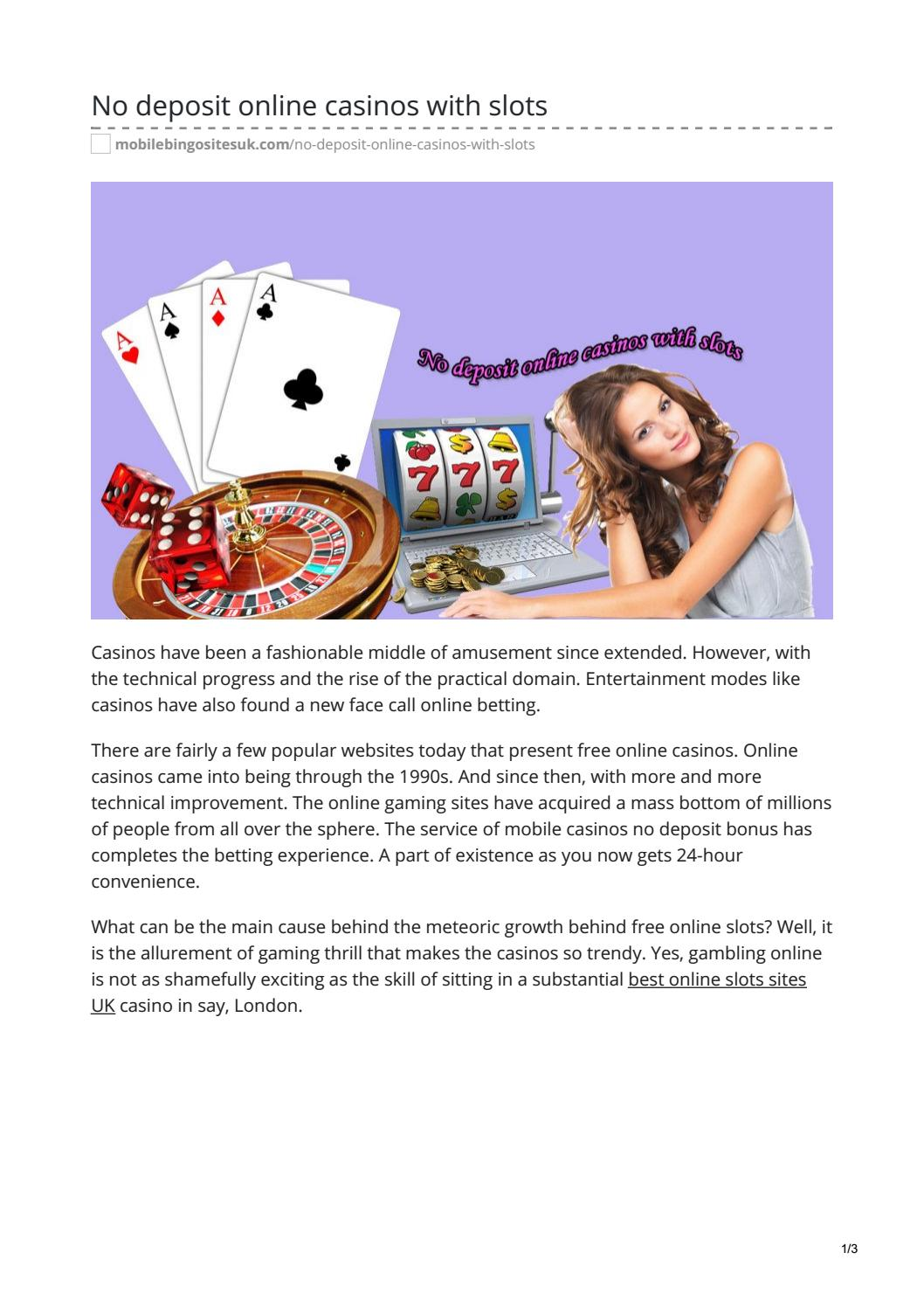 No Deposit Online Casinos With Slots By Krsubhay2018 Issuu
