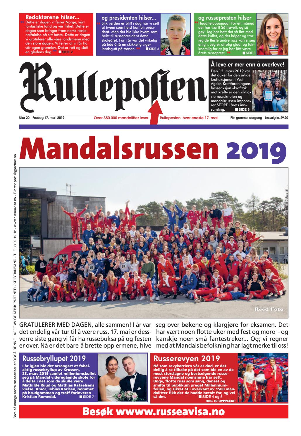 fd1003e3 Russeavisa for mandalsrussen 2019. by Grafisk Partner - issuu