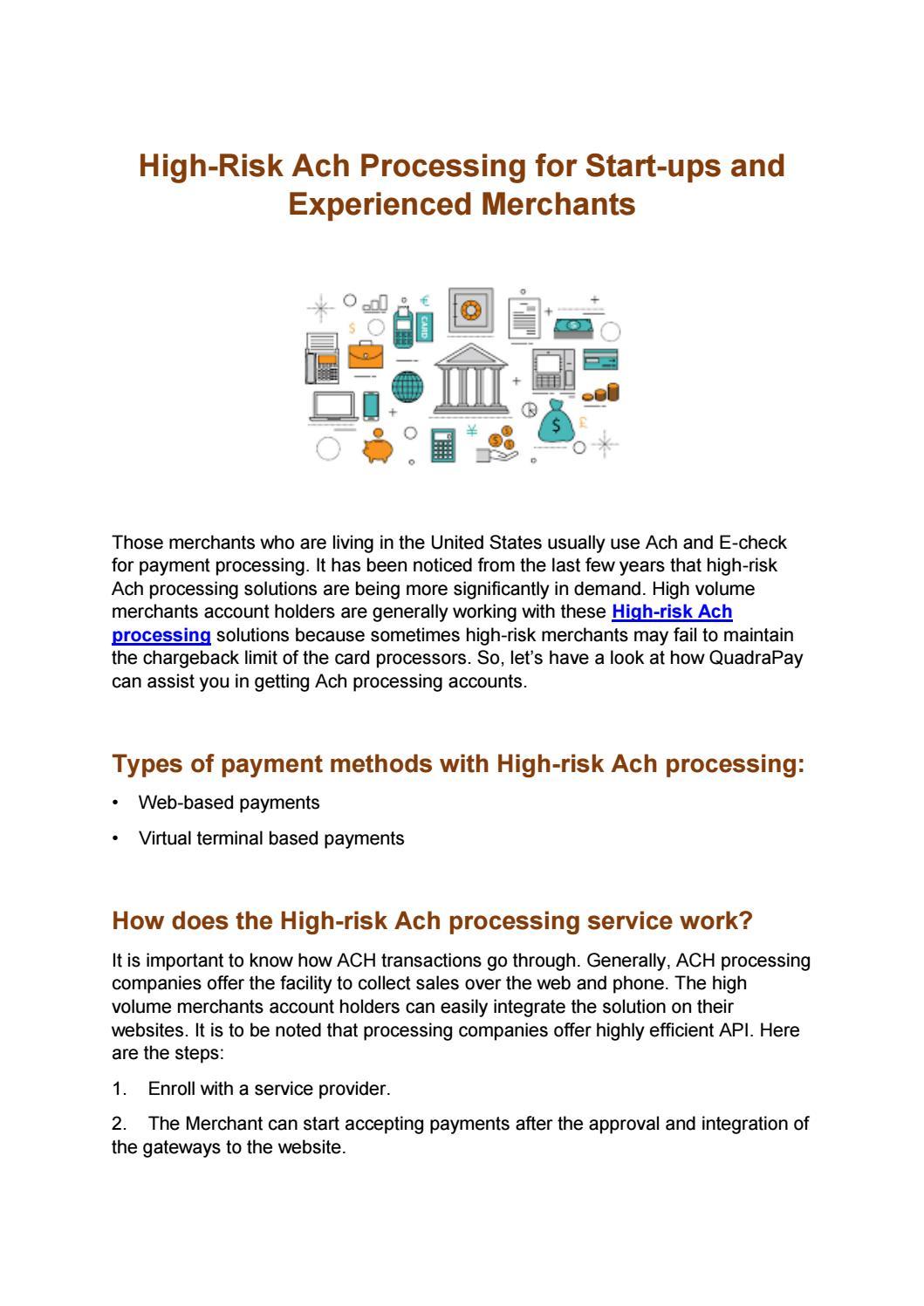 High Volume Merchant Account by quadra pay - issuu
