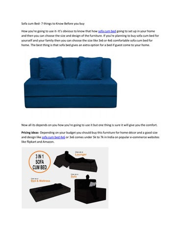 Sofa Bed 7 Things To Know Before