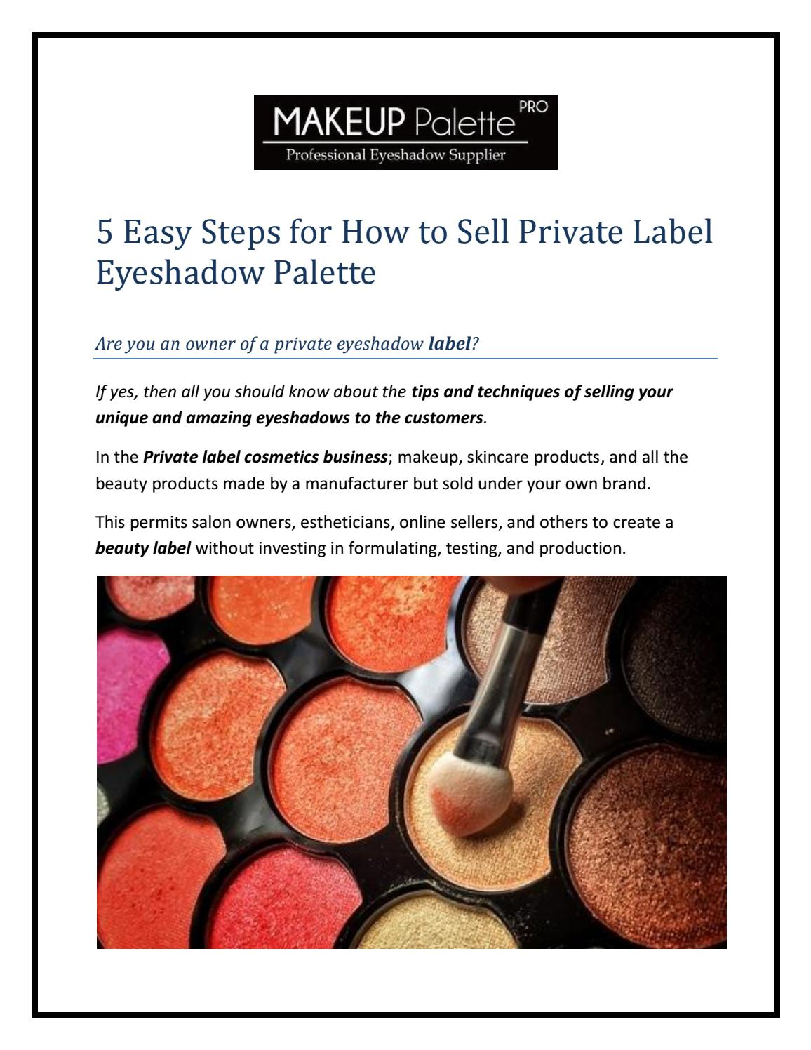 To Private Label Eyeshadow Palette