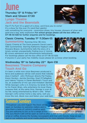 Page 11 of Events in June at The Dock