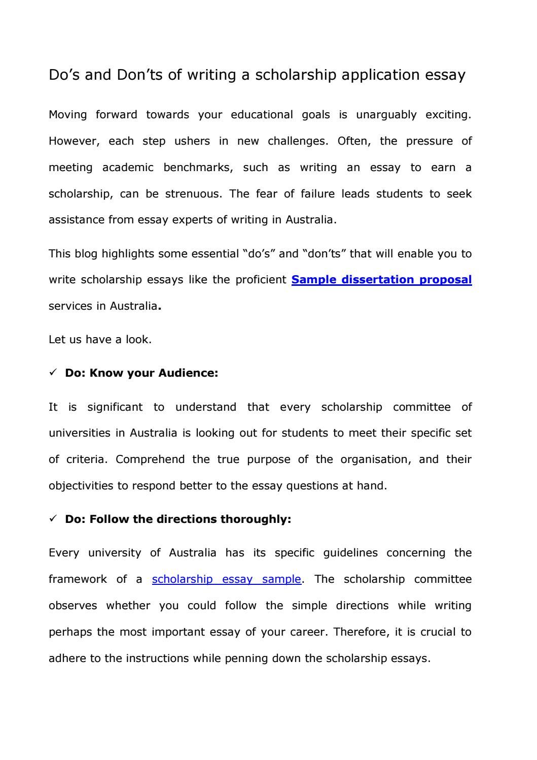 Essay For Applying Scholarship