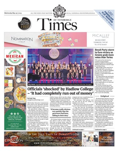Times of Tonbridge 29th May 2019 by One Media - issuu
