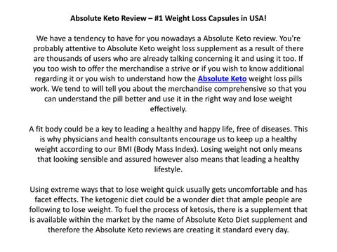 Absolute Keto Review Is It Really A Genuine Weight Loss Supplement By Absolute Keto Issuu