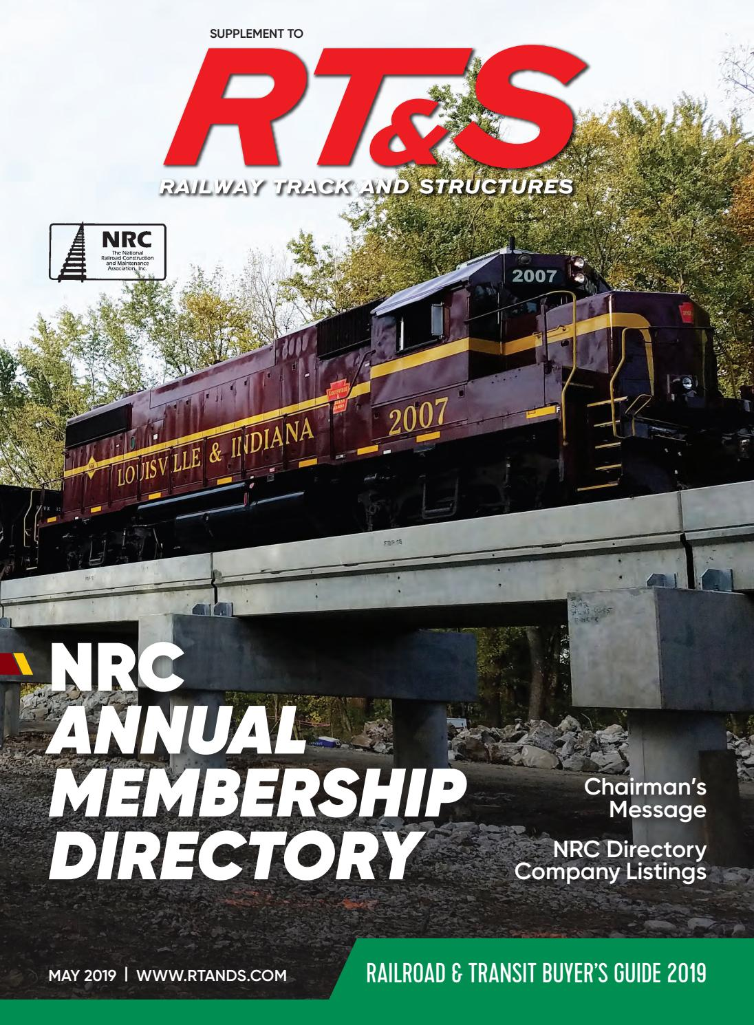 2019 NRC Directory by Railway Track & Structures - issuu