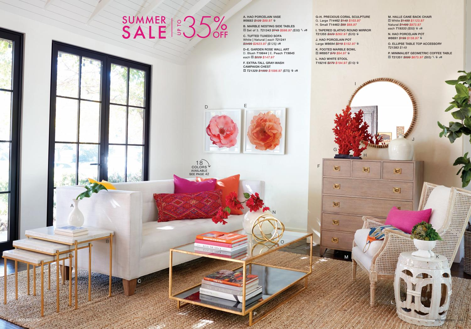 Picture of: June 2019 Wisteria Catalog By Wisteria Home Decor Issuu