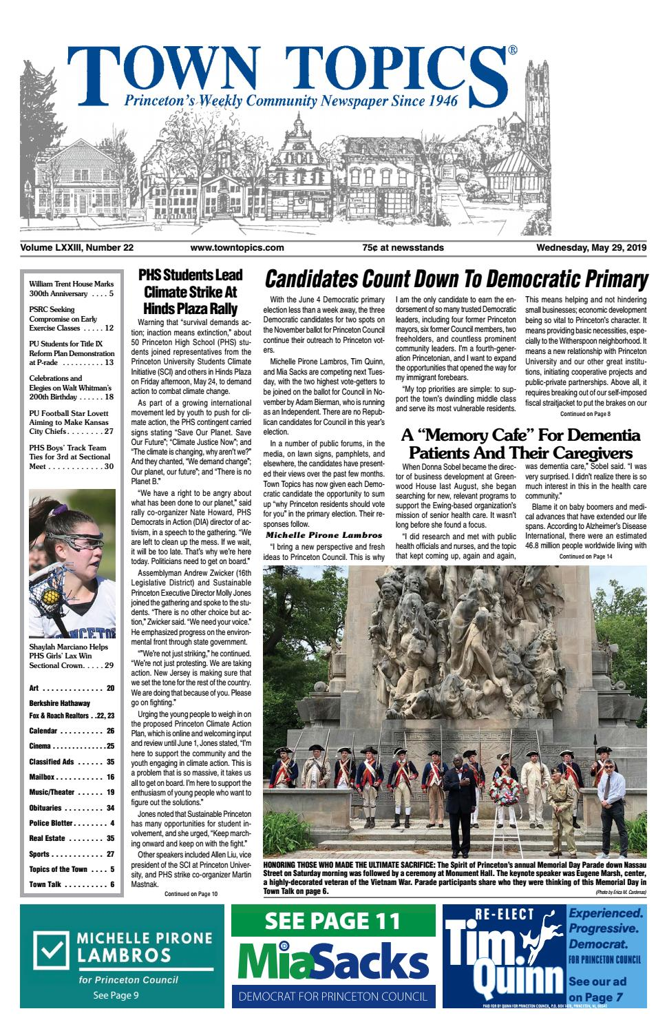 Town Topics Newspaper, May 29 by Witherspoon Media Group - issuu