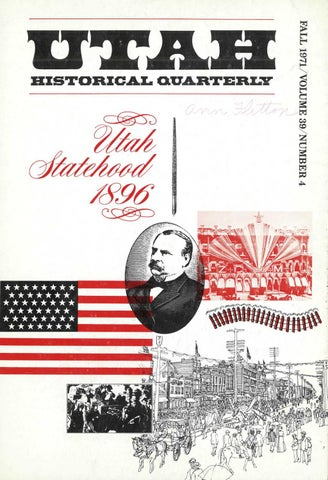Utah Historical Quarterly, Volume 39, Number 4, 1971 by Utah