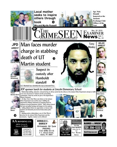 The CrimeSEEN Examiner News May 30, 2019 by CrimeSEEN
