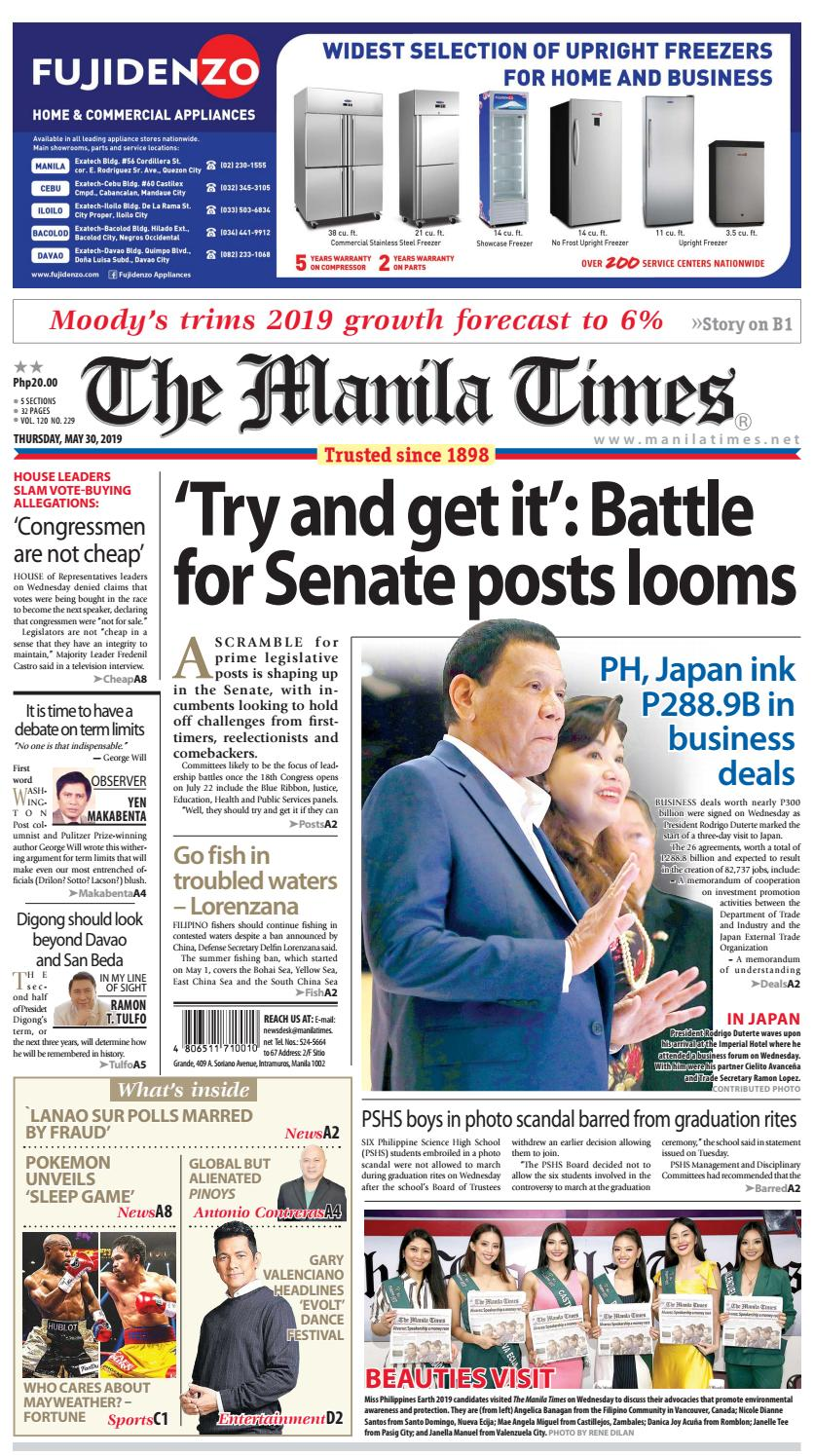 THE MANILA TIMES | MAY 30, 2019 by The Manila Times - issuu