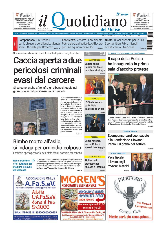 e804687ffd8b quotidiano del 30-05-19 by redazionecb - issuu