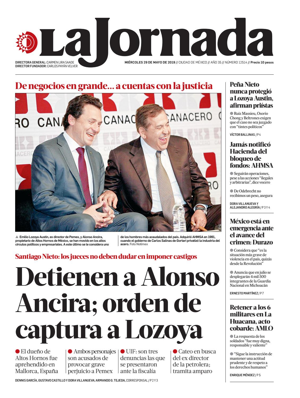 276547b6129 La Jornada, 05/29/2019 by La Jornada - issuu