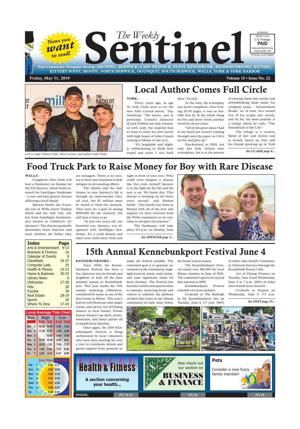 WS May 31, 2019 by Weekly Sentinel - issuu